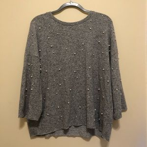Zara Sweater with Pearls